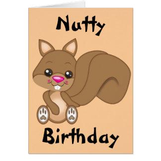 Cute Cartoon Squirrel Card