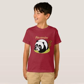 Cute cartoon style black and white panda bear, T-Shirt