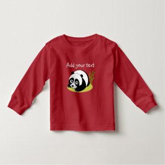 Cute cartoon style black and white panda bear, toddler T-Shirt