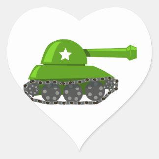 Cute Cartoon Tank Heart Sticker