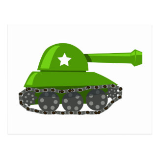 Cute Cartoon Tank Postcard