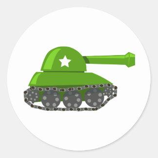 Cute Cartoon Tank Round Sticker