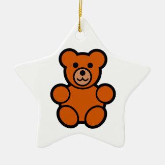 Cute Cartoon Teddy Bear Ceramic Star Decoration