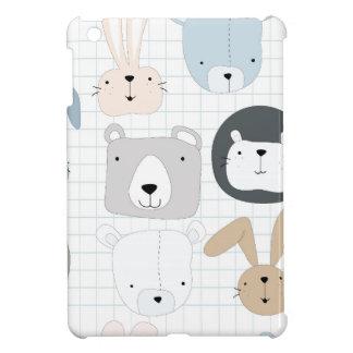 Cute cartoon teddy bear toddler and rabbit bunny iPad mini cases