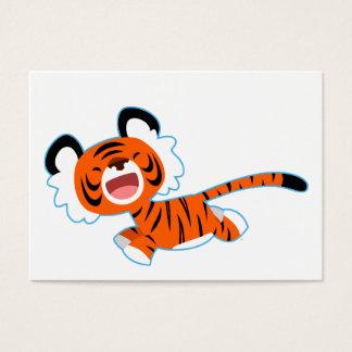 Cute Cartoon Tiger On The Run ACEO/Business Card