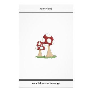 Cute Cartoon Toadstools Mushrooms Design Stationery
