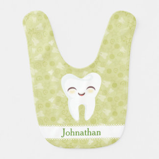 Cute Cartoon Tooth - Custom Baby Bib