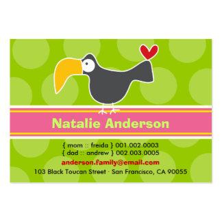 Cute Cartoon Toucan Kid Photo Profile Calling Card Business Card