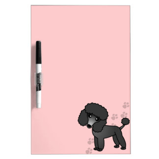 Cute Cartoon Toy / Miniature Black Poodle Dry Erase Board
