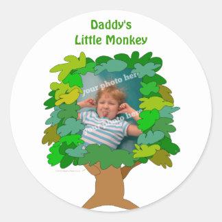 Cute Cartoon Tree Little Monkey Custom Photo Sticker