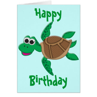 Cute Cartoon Turtle Card