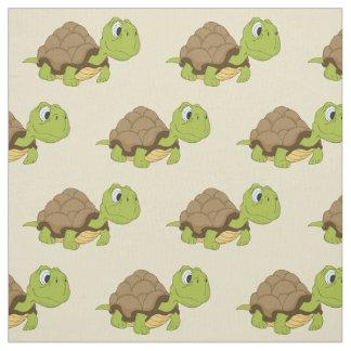 Cute Cartoon Turtle Fabric