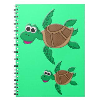 Cute Cartoon Turtle Note Book