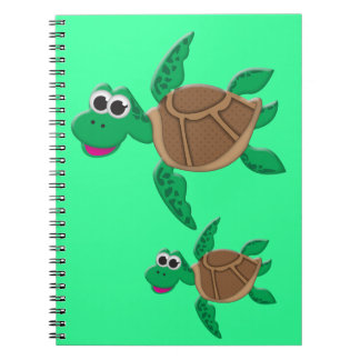 Cute Cartoon Turtle Notebook