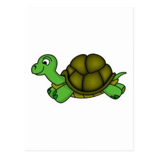 Cute Cartoon Turtle Postcard