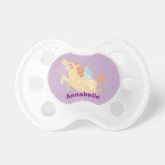 Cute Cartoon Unicorn Personalized Baby Pacifier