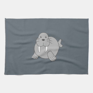 Cute Cartoon Walrus Kitchen Towel