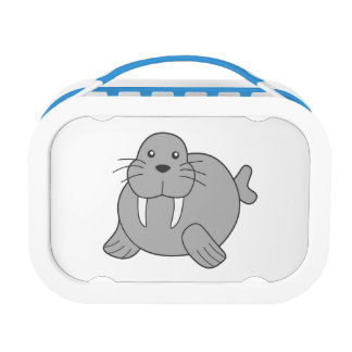 Cute Cartoon Walrus Lunch Box