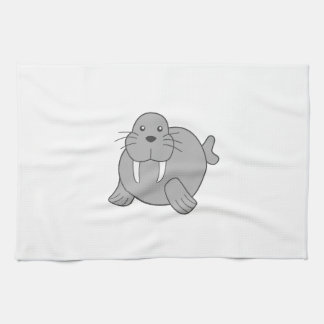 Cute Cartoon Walrus Tea Towels