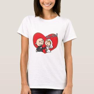 "Cute Cartoon ""We Did"" Wedding couple T-Shirt"