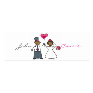 Cute Cartoon Wedding Couple Bride Groom Love Heart Business Card Templates