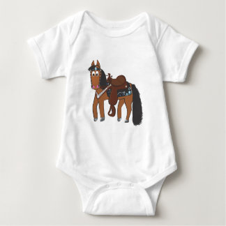 Cute Cartoon Western Horse Baby Bodysuit