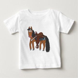 Cute Cartoon Western Horse Baby T-Shirt