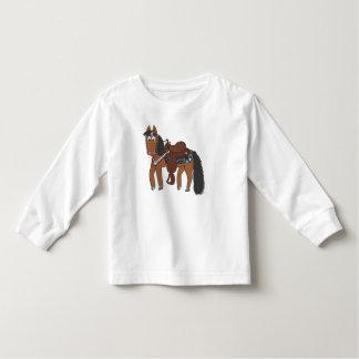 Cute Cartoon Western Horse Toddler T-Shirt