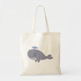 Cute Cartoon Whale Budget Tote Bag