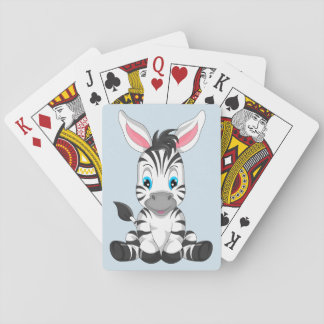 Cute Cartoon Zebra Playing Cards