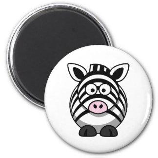 Cute Cartoon Zebra Template 6 Cm Round Magnet