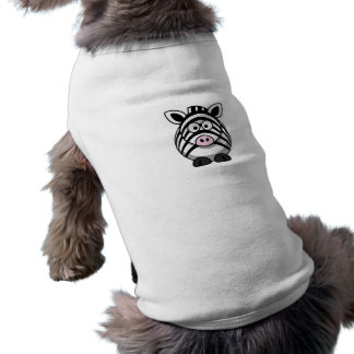 Cute Cartoon Zebra Template Doggie Tee Shirt