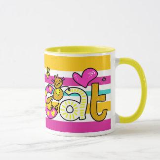 Cute Cartoony Cat Coffee Mug