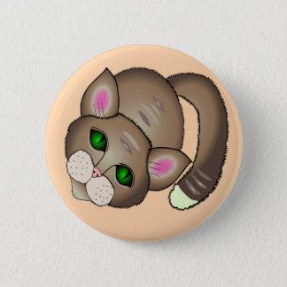 cute cat 6 cm round badge