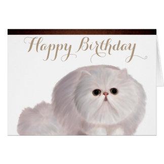 Cute Cat Birthday Greeting Card