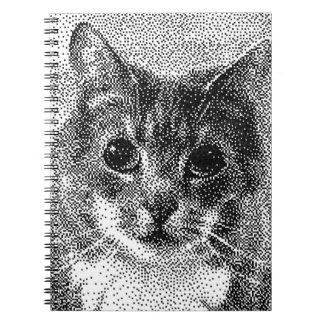Cute Cat C64 Style Hand-Drawn Pixel Art Notebook