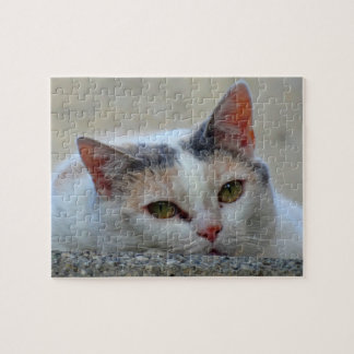 Cute Cat Close-up Photo Difficult Jigsaw Puzzle