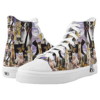 Cute Cat Collage 4 Printed Shoes