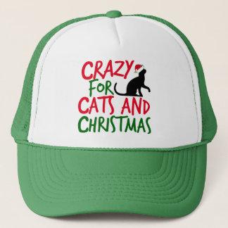 Cute Cat Crazy Christmas Trucker Hat