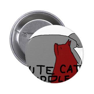 Cute Cat Cuddle 6 Cm Round Badge