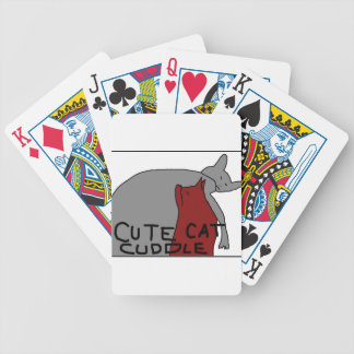 Cute Cat Cuddle Bicycle Playing Cards