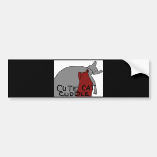 Cute Cat Cuddle Bumper Sticker