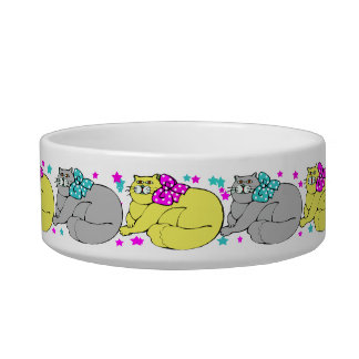 CUTE  CAT DISH DESIGN CAT WATER BOWL
