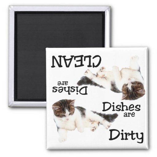 Cute Cat Dishwasher Magnet