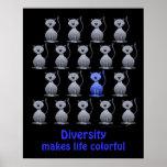 Cute Cat Diversity Poster for Kids Motivational