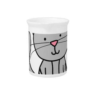 CUTE CAT DOODLE PITCHER