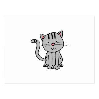 CUTE CAT DOODLE POSTCARD