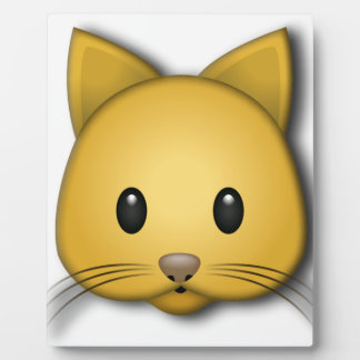 Cute Cat Emoj Style Design Plaque