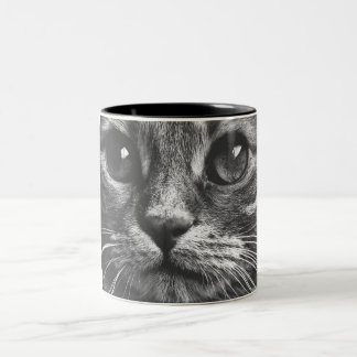 Cute Cat Face Close Up Print Coffee Mug