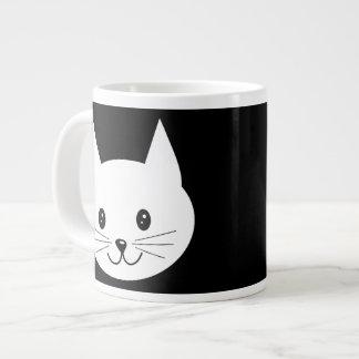 Cute Cat Face. Large Coffee Mug